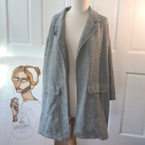 Zara comfy cardigan sweater gray small oversized